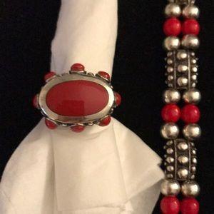 Ring and bracelet set.